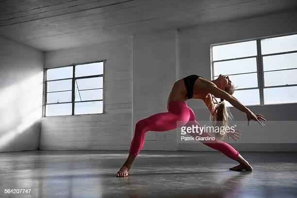 Woman in dance studio