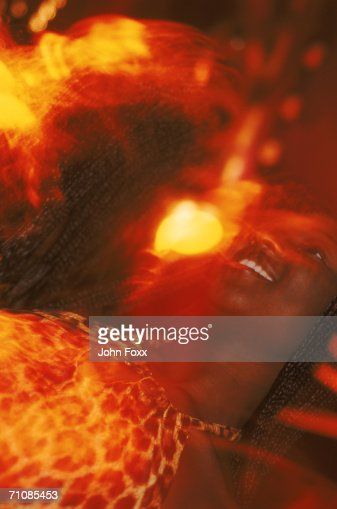 woman in disco : Stock Photo