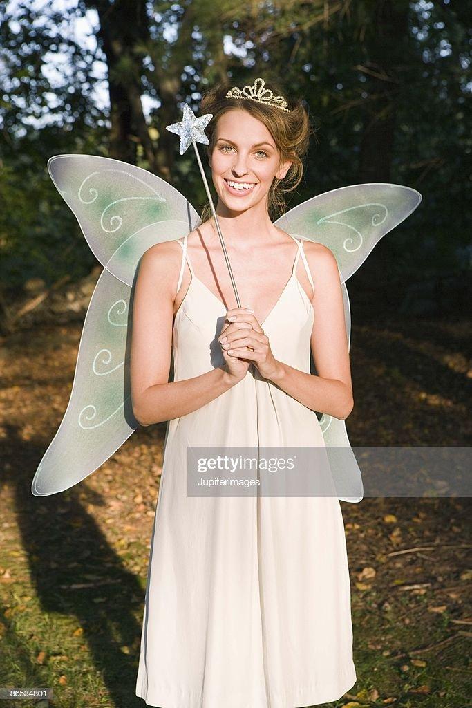 Woman in fairy costume