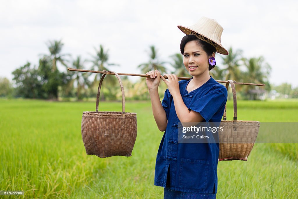 Woman in farmer : Stock Photo