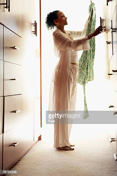 Woman in Front of Wardrobe
