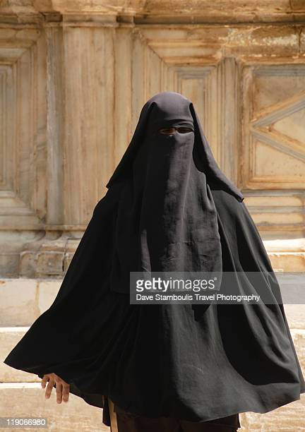 Woman in full burqa, Cairo