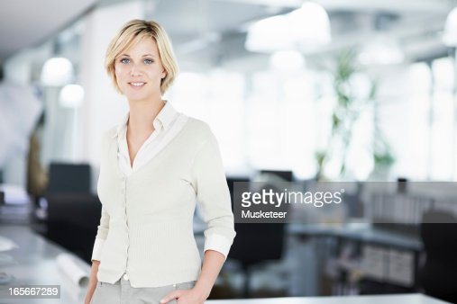 Woman in her office