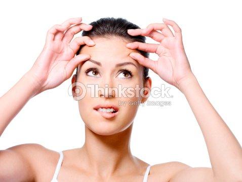 woman in horror beacause of crease stock photo thinkstock