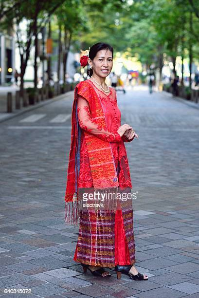 Woman in Indonesian dress