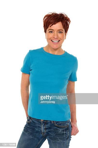 Donna in jeans e una t-shirt