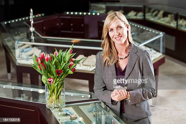 Woman in jewelry store