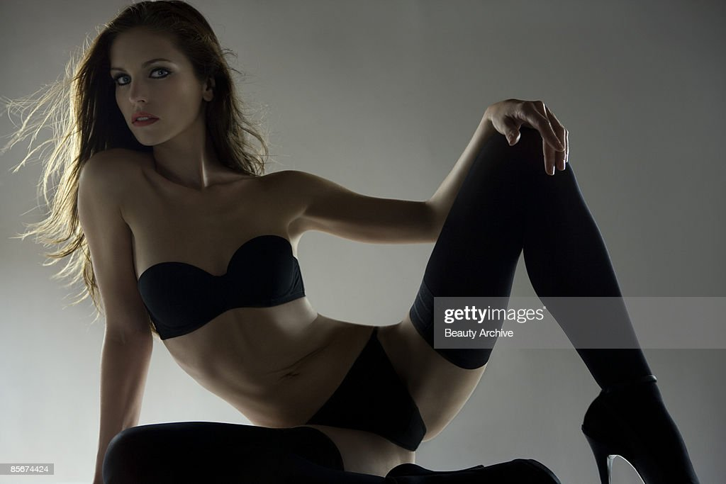 Woman in lingerie : Stock Photo