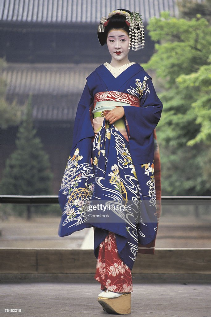 Woman in maiko dress