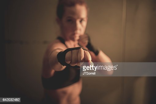 Woman in Martial Arts Pose