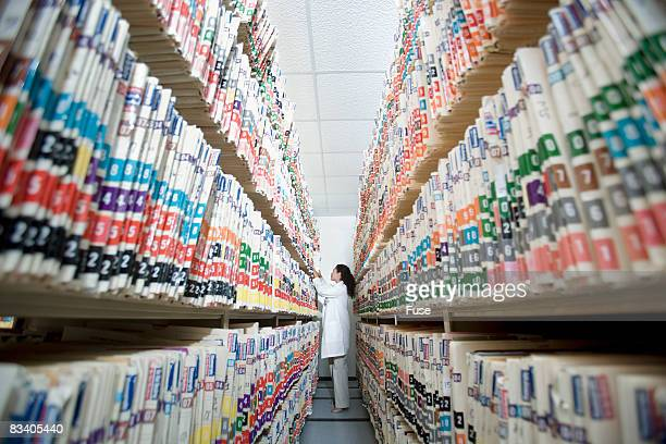 Woman in Medical Records Room