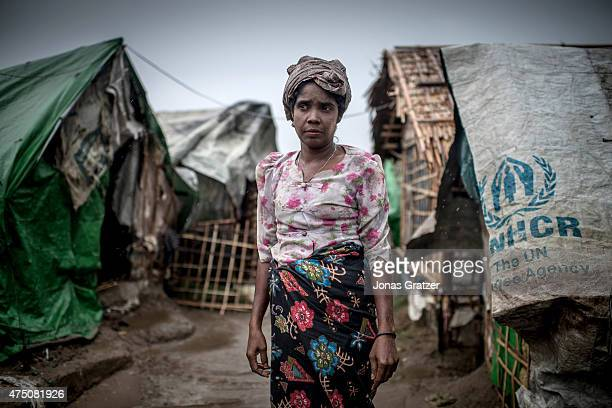 A woman in one of the unregistered IDP cams are suffering from famine She has not eaten in four days she says May 24 2015 in Sittwe Burma Since 2012...