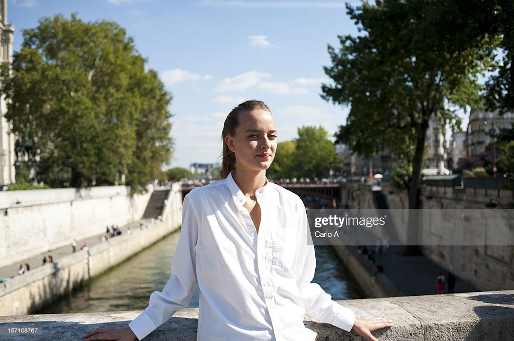 Woman in Paris : Stock Photo