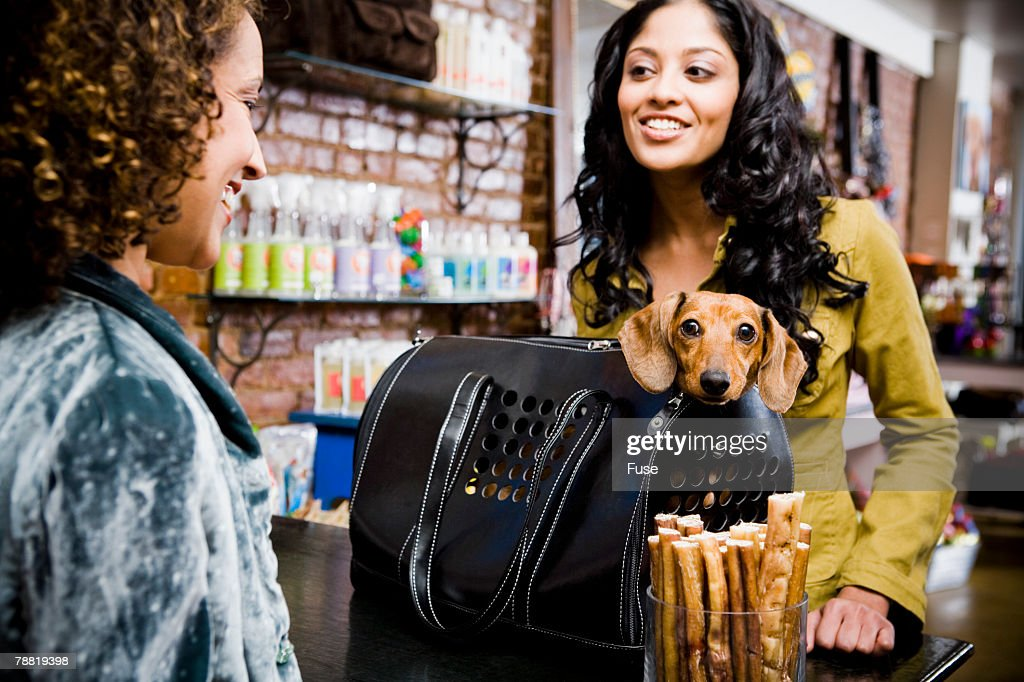 Woman in Pet Shop