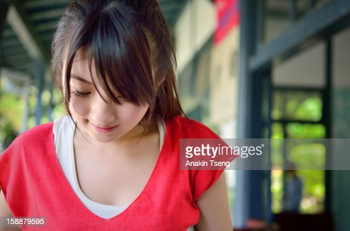 woman in red : Stock Photo