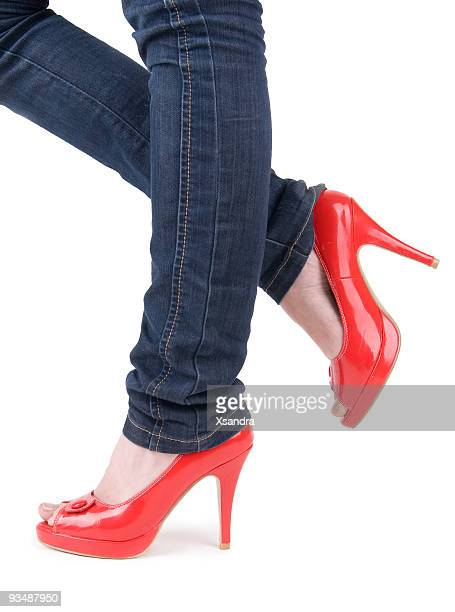 sexy donna in Scarpe rosse