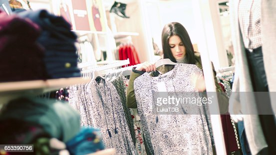 Woman in shopping : Stock Photo