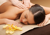 woman in spa salon having back  massage