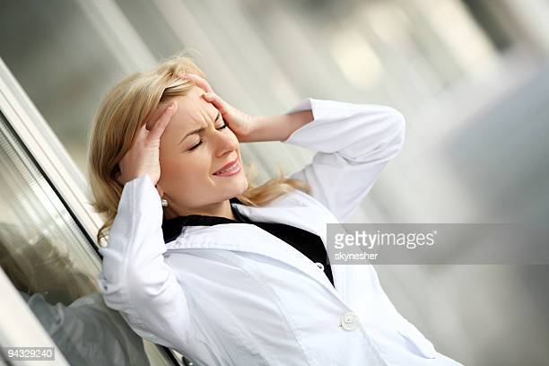Frau in stress.