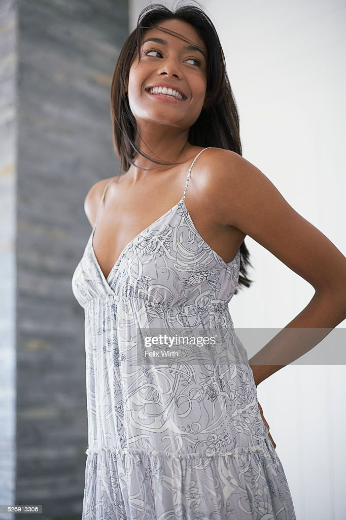 Woman in sundress : Stock Photo