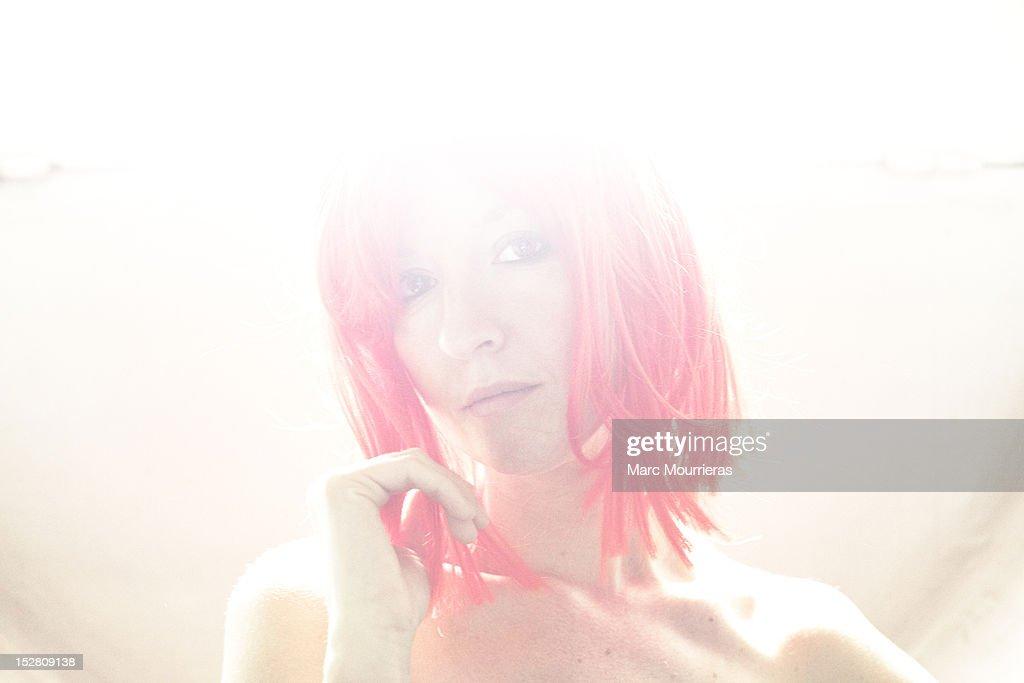 Woman in sunshine : Stock Photo