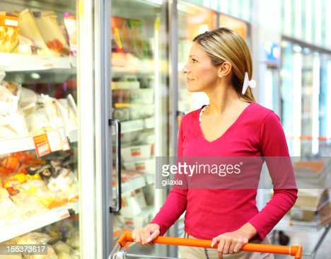 Woman in supermarket.