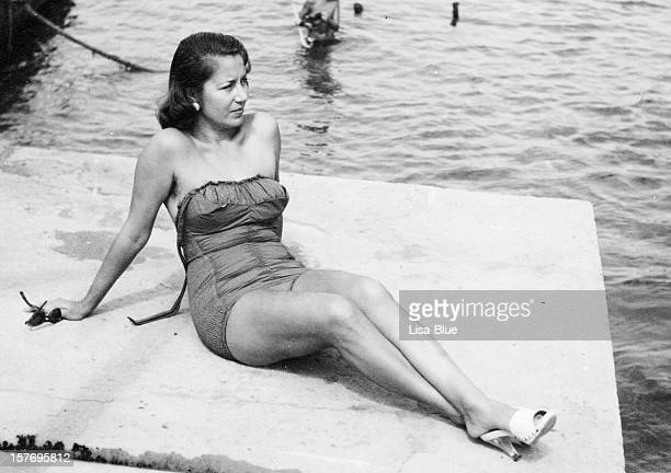 Woman in Swimwear,1950.Black And White.
