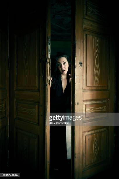 Woman in the door space