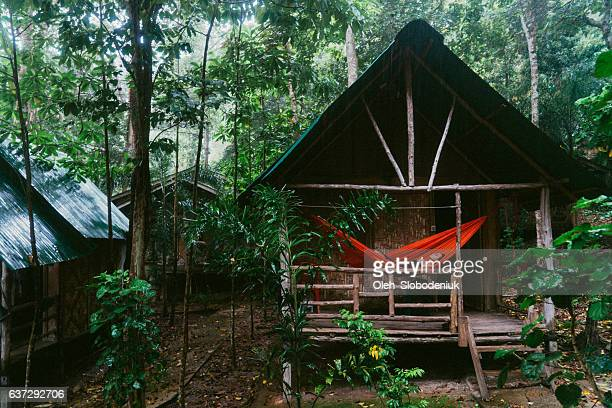 Woman in the hut in the jungles