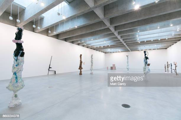 A woman in the new gallery space for temporary exhibitions looks at the inaugural show by Rebecca Warren called ÔAll That Heaven AllowÕ in the...