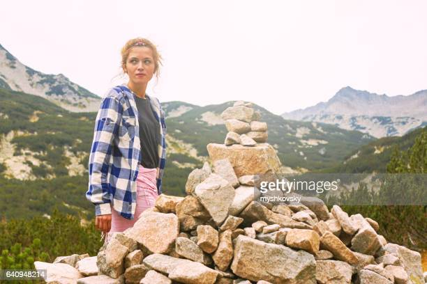 Woman in the Rila Mountains