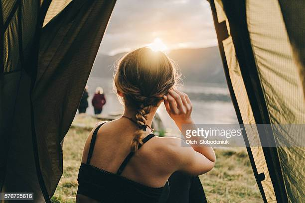 Woman in the tent