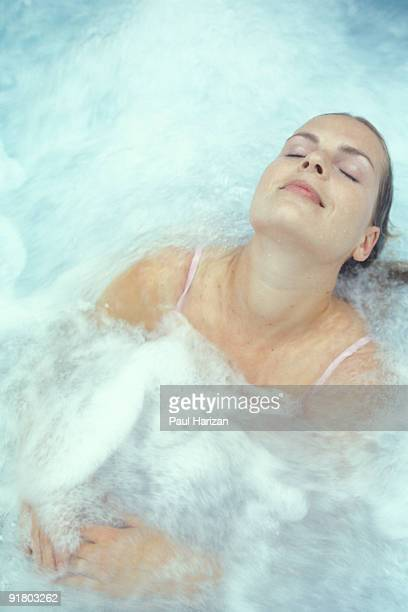 Woman in therapy pool