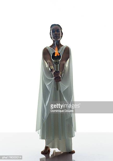 Woman in toga, holding torch