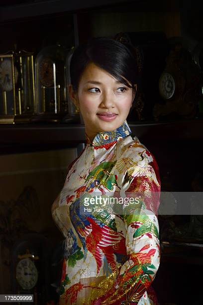 Woman in Vietnamese traditional dress - Ao Dai