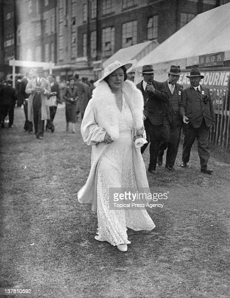 A woman in white during the Epsom Derby in Surrey 2nd June 1937