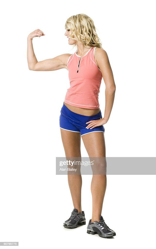 woman in workout gear : Stock Photo