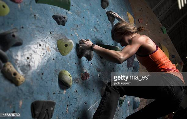 Woman Indoor Climbing
