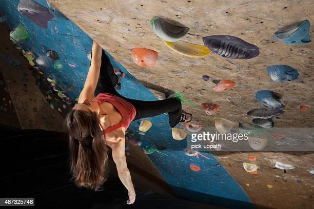 Woman Indoor Climbing