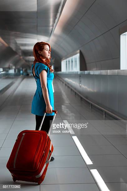 woman inside airport