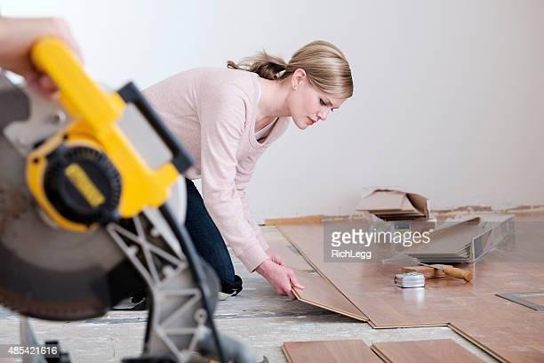 Woman ラミネートの床設置