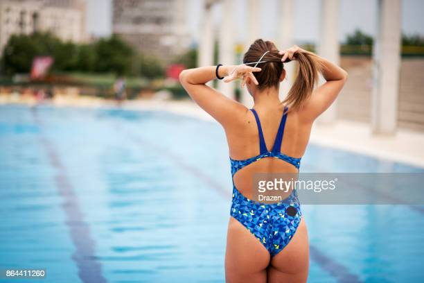 Woman is professional swimmer
