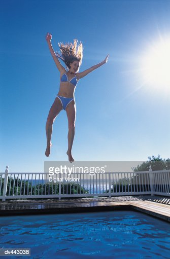 Teen Girls Falling Into Water Stock Photos And Pictures