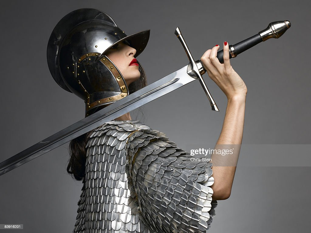 Woman Knight with Sword