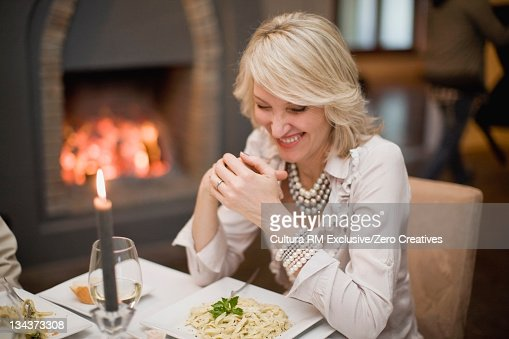 2 Adults Eating Restaurant Stock Photos And Pictures