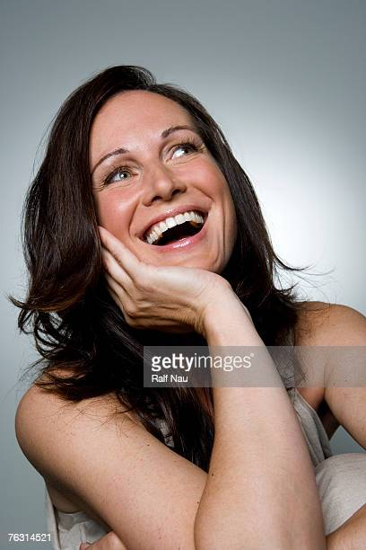 Woman laughing, close-up