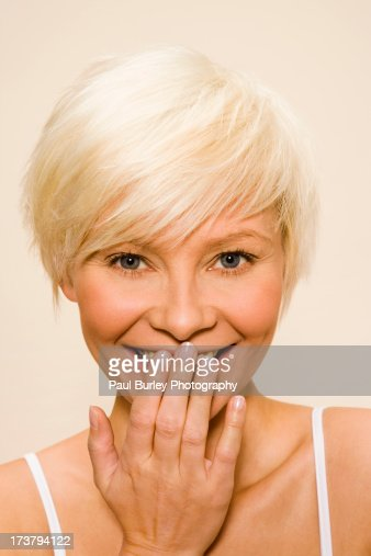 Woman laughing. : Stock Photo