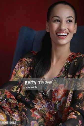Woman laughing : Foto stock