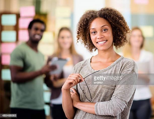 Woman leading group of entrepreneurs