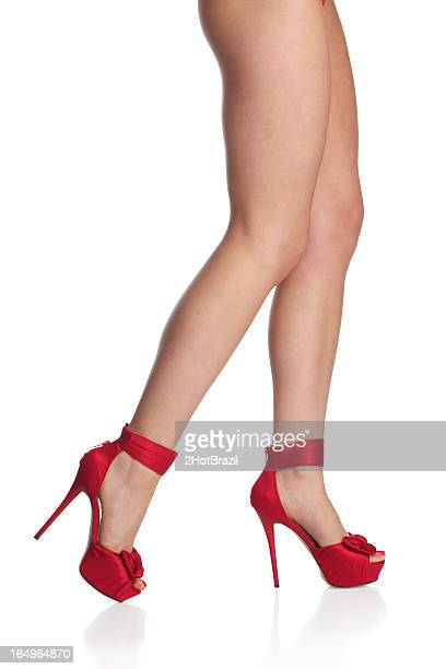 Woman Leg With Red Stilettos